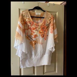 Orange/ Yellow Floral Blouse